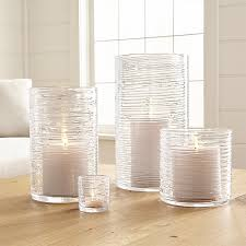 Large Hurricane Glass Vase Spin Glass Hurricane Candle Holders Vases Crate And Barrel