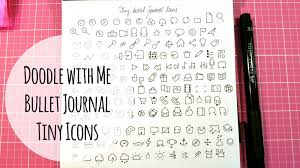 doodle with doodle with me tiny icons for your bullet journal