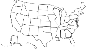 Black And White United States Map Spread The Love