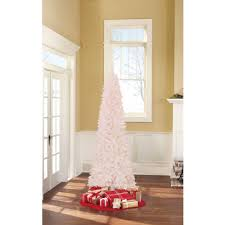 time pre lit brinkley pine artificial tree white