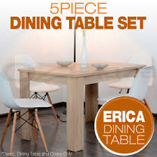 Replica Eames Dining Table Set Of 1x Wooden Dining Table 4x Eames Replica Dsw Retro Dining