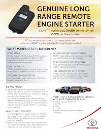 start long range remote engine starter ken shaw toyota