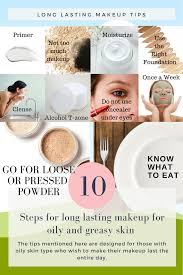 tips for long lasting makeup for oily and greasy skin