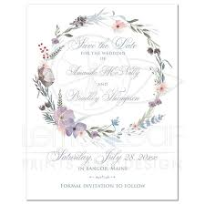 bohemian wildflowers wedding save the date card photo optional