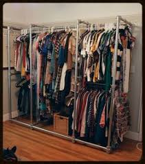 Open Clothes Storage System Diy Diy Closet For The Home Pinterest Clothing Storage Storage