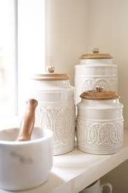 best 25 kitchen canisters ideas on pinterest canisters open whether your mother lives in the city or in the country she ll agree that pier ivory farmhouse canisters are the cream of the crop
