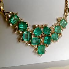 emerald gemstone necklace images Cluster aaa colombian natural emerald diamond pendant necklace png
