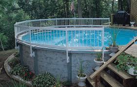 Backyard Pool Fence Ideas Creative Backyard Above Ground Pool Fence Wth Curved Iron Railling