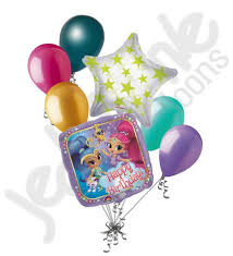 happy birthday balloon shimmer shine happy birthday balloon bouquet jeckaroonie balloons