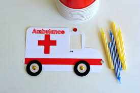 ambulance craft kit for kids birthday party favor decoration arts
