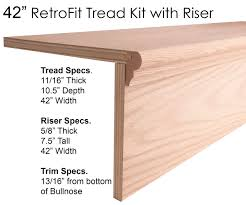 Stair Tread by Wood Stair Treads Starting Steps Retrofit Treads Ironwood