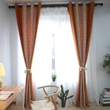 Burnt Orange Curtains Burnt Orange And Navy Blue Floral Curtains