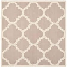 safavieh florida shag cream beige 8 ft x 8 ft square area rug