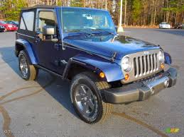 jeep blue and black 2013 true blue pearl jeep wrangler oscar mike freedom edition 4x4