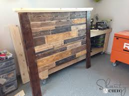 How To Make A Platform Bed With Plywood by Diy Planked Headboard Shanty 2 Chic