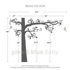 big swirly tree wall decal pinknbluebaby