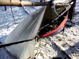 eno hammock super shelter winter camping sleeping warm above the