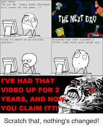Nintendo Memes - 25 best memes about youtube nintendo youtube nintendo memes