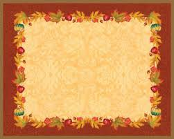 thanksgiving blessing placemats printed paper placemats