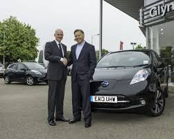 nissan leaf price uk dj mark is the first person in uk to take delivery of all new leaf