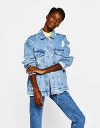 denim collection clothing woman bershka united kingdom