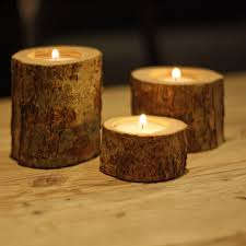 Tree Branch Candle Holder Tree Branch Tea Light Holders Set Of Three By The Wedding Of My