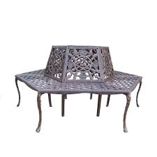 Oakland Living Mississippi Cast Aluminum Oakland Living Tea Rose Patio Tree Bench 5016 Ab The Home Depot
