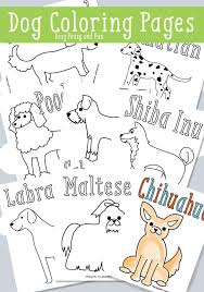 dog coloring pages free printable easy peasy fun