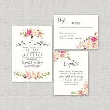 calligraphy for wedding invitations watercolor boho wedding invitation suite deposit diy rustic