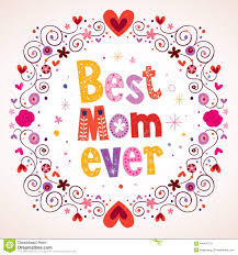 best mom ever hearts and flowers card stock vector image 44404179