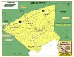 Tennessee Map With Counties by Greene County Tennessee Century Farms