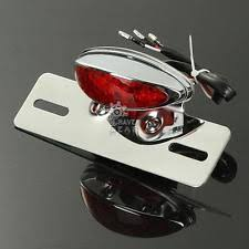 motorcycle license plate frame with led brake light motorcycle license plate bracket ebay