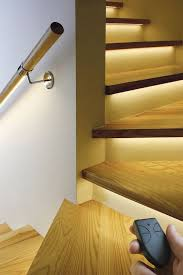 designs ideas modern basement staircase with led lighting along