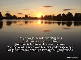 psalm of thanksgiving verse of the day the bottom of a bottle page 9