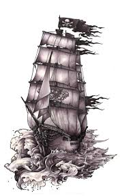 collection of 25 pirate ship tattoo