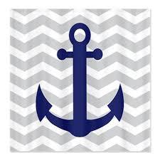 Nautical Bathroom Curtains Chevron Anchor Shower Curtain Chevron Anchors And Showers