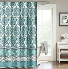 Gray And Teal Shower Curtain Medallion Shower Curtain Ebay