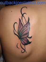 butterfly back shoulder tattoos designs best design