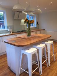 Ideas For Kitchen Worktops White Gloss Kitchen With Oak Worktop Home Ideas Pinterest