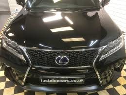 lexus used car sales uk used lexus rx 450h 3 5 f sport 5dr cvt auto 1 owner for sale in
