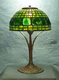 Tiffany Table Lamp Shades Tiffany Studios And Grueby Faience Company A Rare