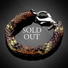 mens clasp bracelet images Signature python leather with large silver clasp men 39 s bracelet jpg