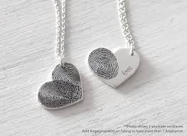 necklace silver etsy images Custom actual fingerprint heart necklace delicate jpg