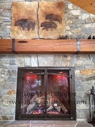 Fireplace Metal Screen by The Metal Shoppe Decorative Fireplace Features Made To Order