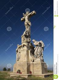 statue of jesus christ on a cross stock images image 27185434
