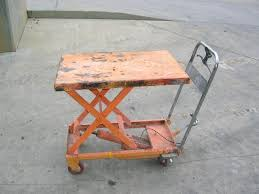 rental lift table hydraulic cart