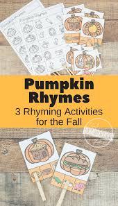 free pumpkin rhyming words clip cards rhyming worksheets and