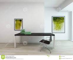 contemporary interior of an office or a study room stock