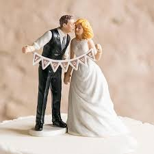 wedding cake top pennant sign and groom porcelain wedding cake top candy