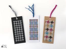 check and plaid bookmarks free cross stitch patterns bugaboocity